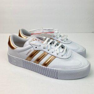 Adidas Original Samba Rose Platform Shoes White